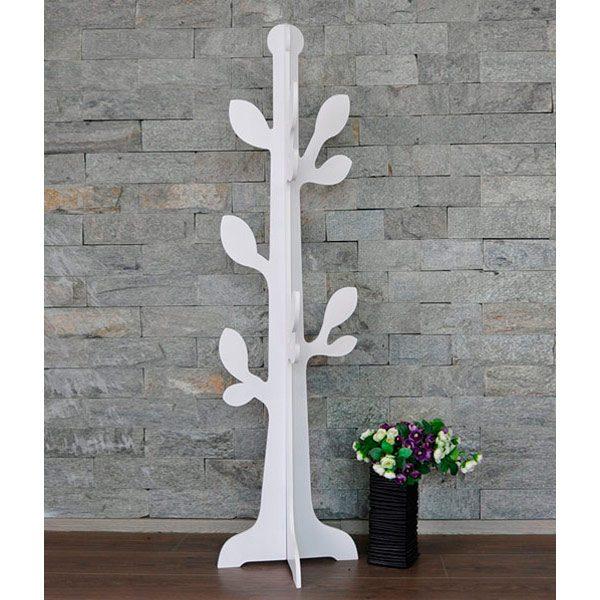 Árbol hojas blanco