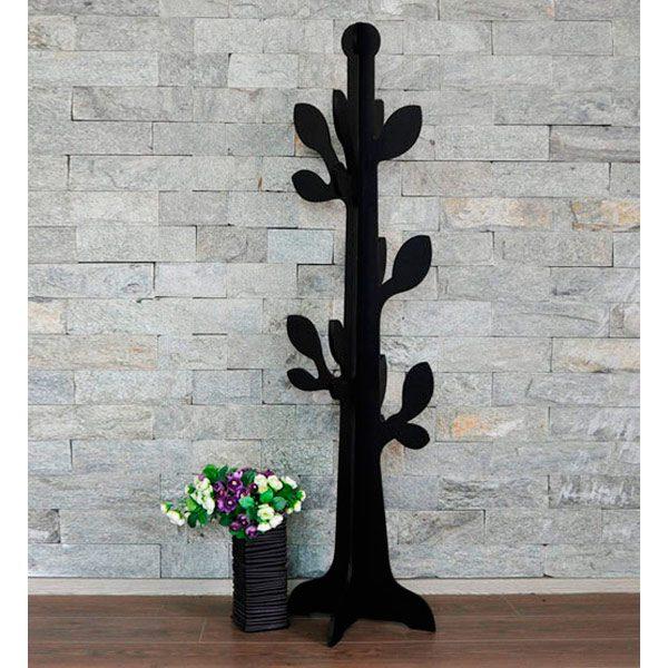 Perchero árbol hojas negro