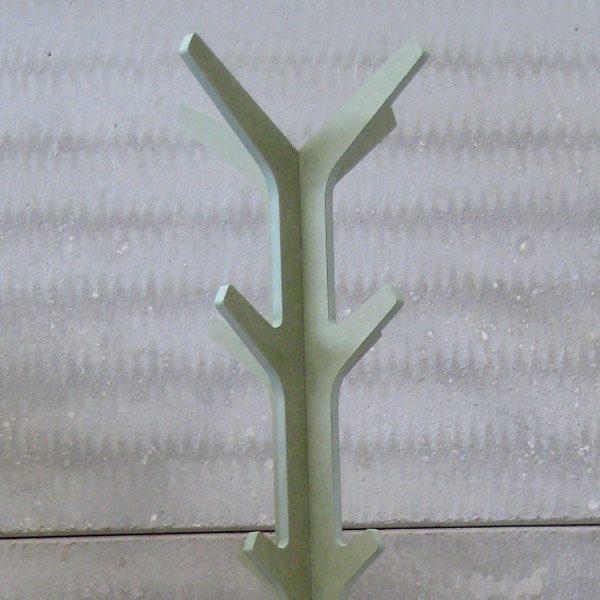 Perchero Ejes hidrófugo color verde