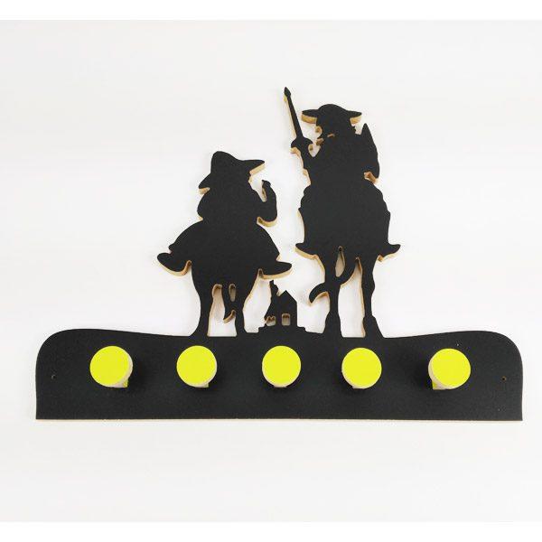 Perchero Quijote negro