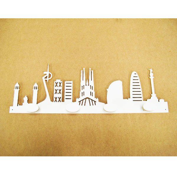 Perchero skyline Barcelona