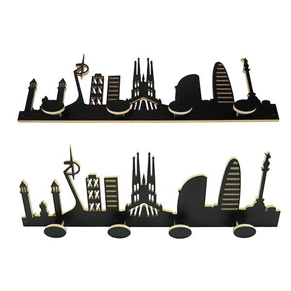 Perchero skyline Barcelona ángulos