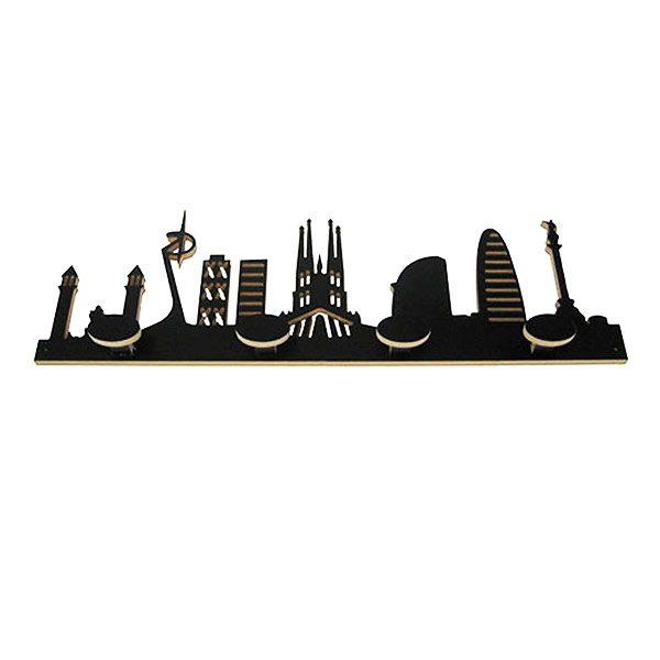 Perchero skyline Barcelona negro