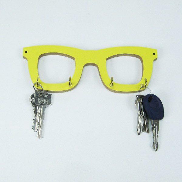 Cuelgallaves gafas amarillas