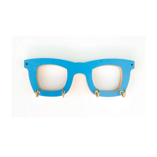Cuelgallaves gafas azul