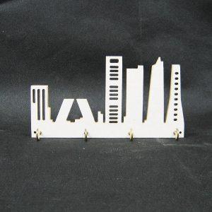 Cuelgallaves skyline blanco