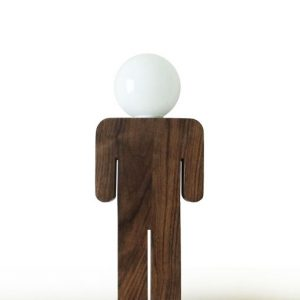 Lámpara mesa hombre