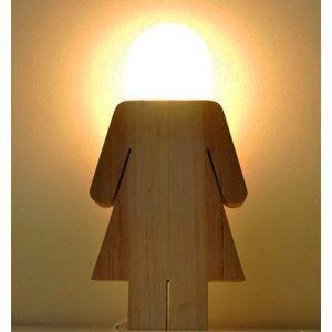 Lámpara mesa mujer luz