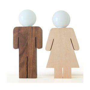 Lámparas mesa pareja