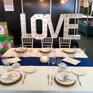 Letras Love boda