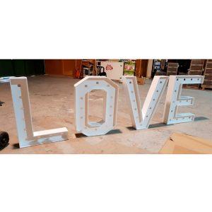 Letras boda Love