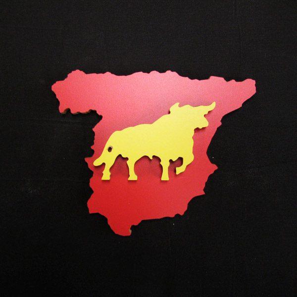 Mapa España toro fondo