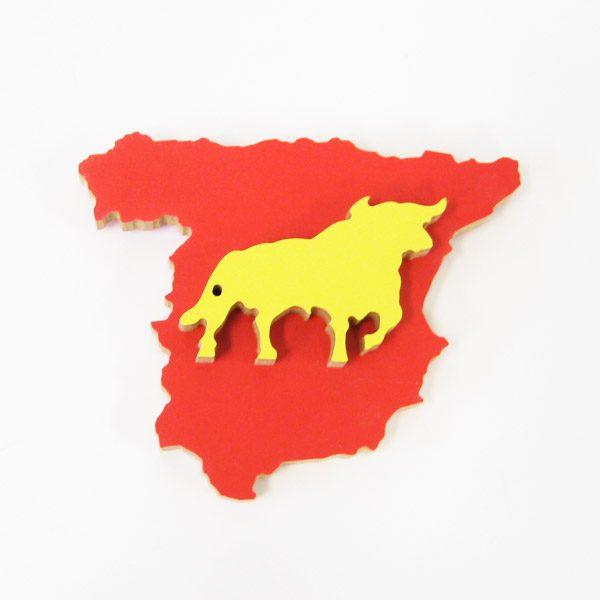 Mapa España con toro