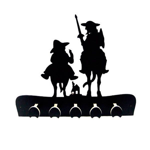 Perchero Quijote pomos negros