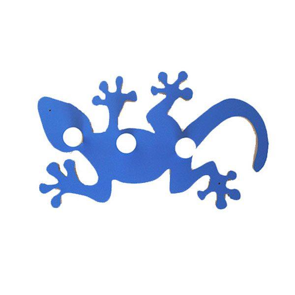 Perchero salamandra azul