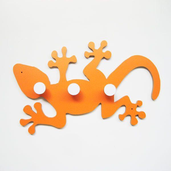 Perchero salamandra naranja