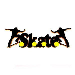 Perchero Skate negro