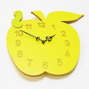 Reloj manzana amarillo