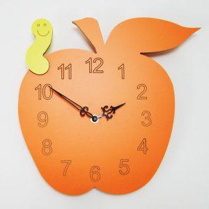 Reloj manzana color naranja