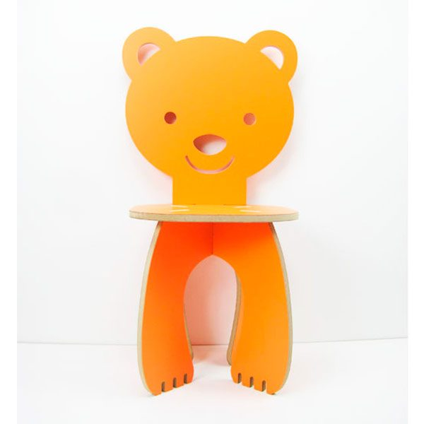 Silla osito color naranja